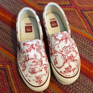 Opening Ceremony x VANS - Red Toile Slip-Ons